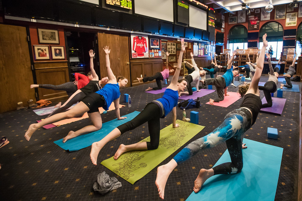 Sunday Brunch Yoga at Crystal City Sports Pub