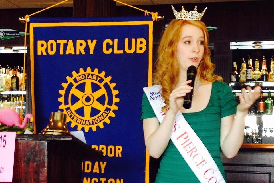 One of my first speaking engagements at a Rotary Club