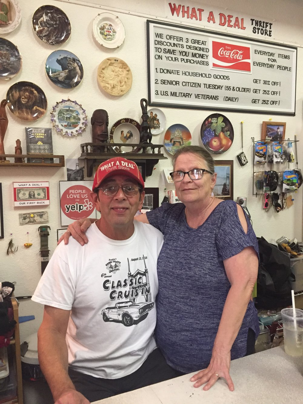 Bob and Sonja, owners of What A Deal in Downtown St. Johns