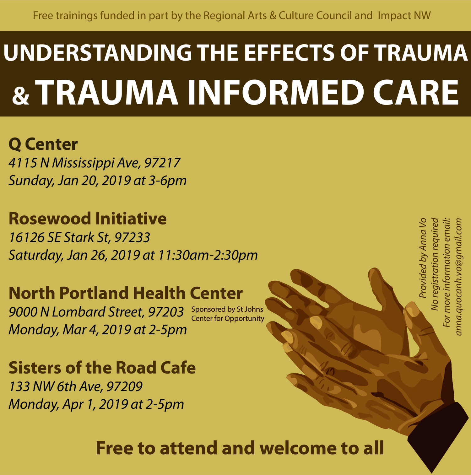 Trauma Informed Care Training in St  Johns — Center for Opportunity