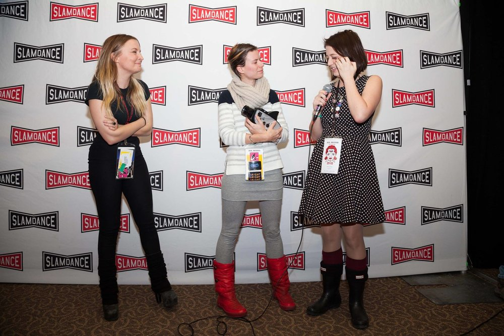 Haun, Schneider & Campbell at 2016 Slamdance Award Ceremony