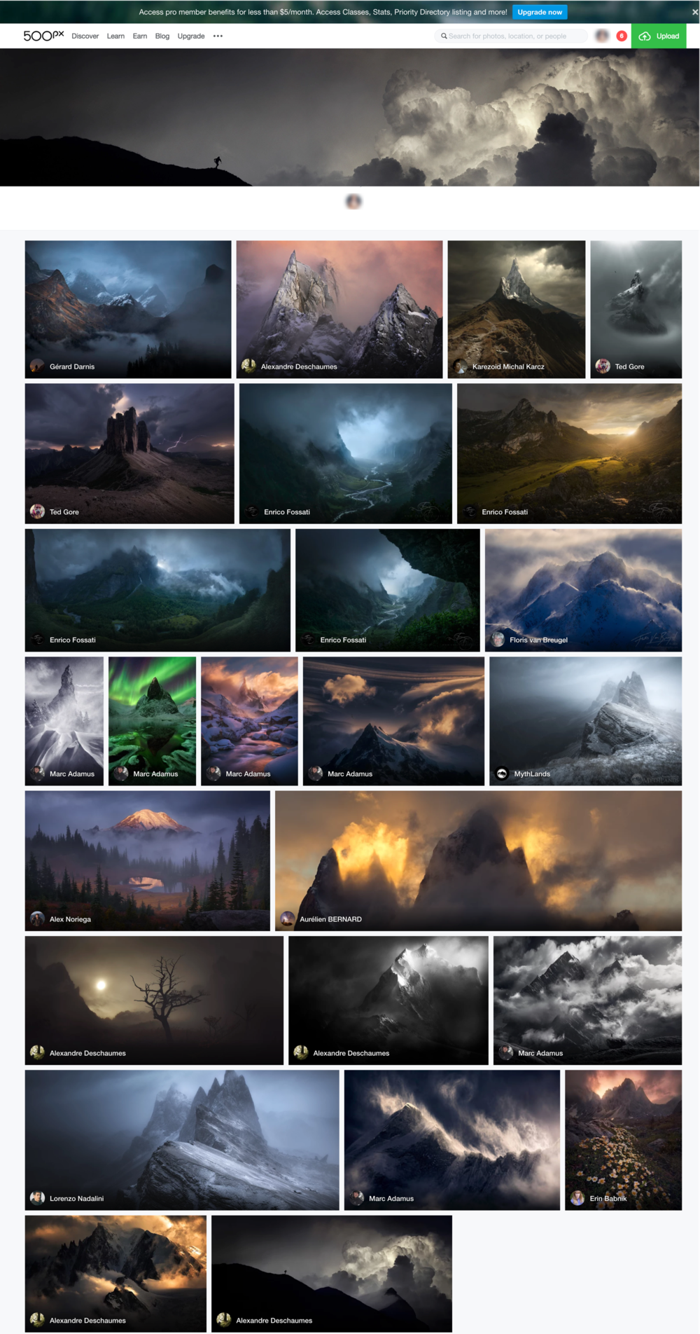500px.com Mountain Atmosphere Gallery