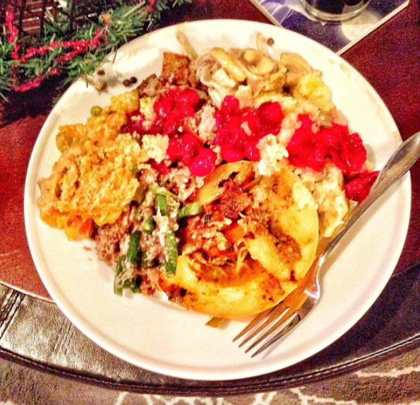One of the plates from last year. We didn't have enough room on the table for all of the food!