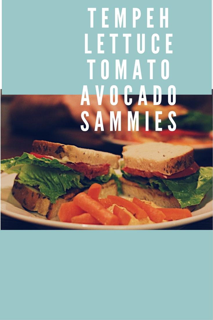tomato tempeh lettuce avocado sandwiches