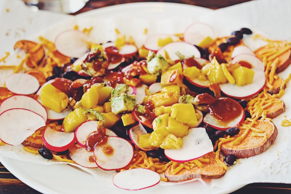 Vegan Sweet Potato Nachos from Love and Lemons