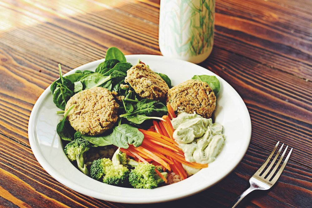 The Falafel Bowl by the Quick and Easy China Study Cookbook
