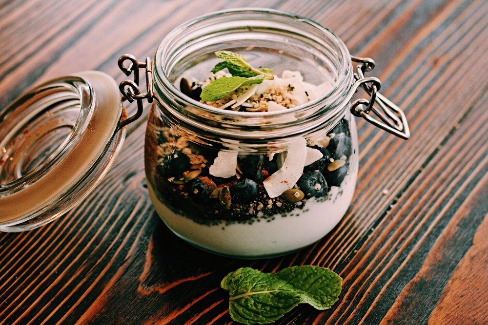 vegan coconut yogurt parfait