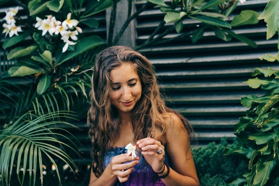 vegan picking a flower modern merfolk