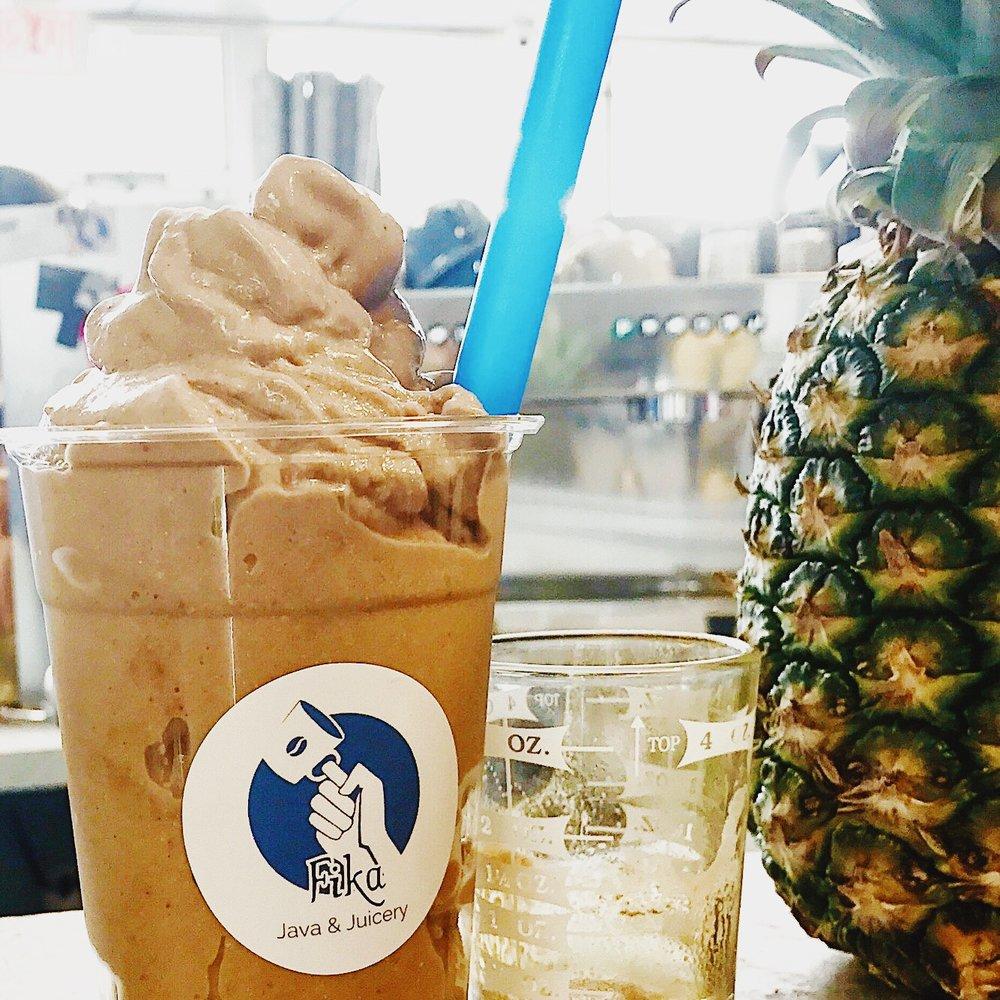 fika vegan galveston coffee juice and smoothies