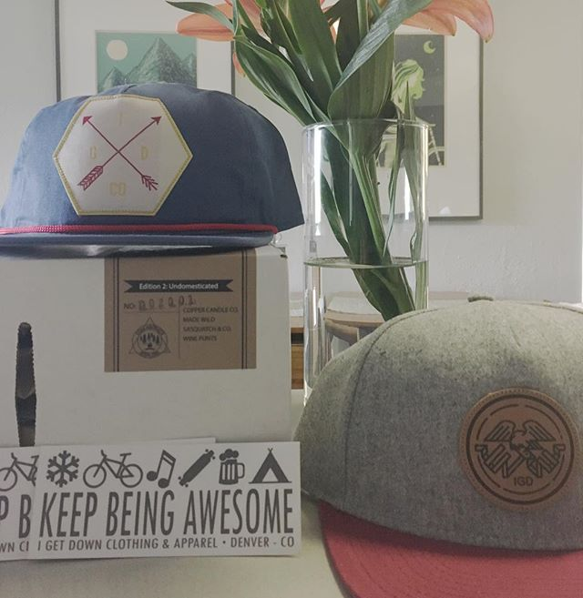 As if my Saturday wasn't going well enough, my new @igetdownco hats just showed up! #igetdownco #collaborateandexplore