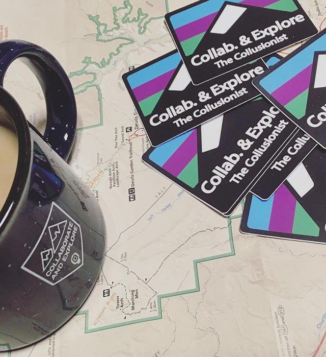 New stickers finally came in. #collaborateandexplore #campmug
