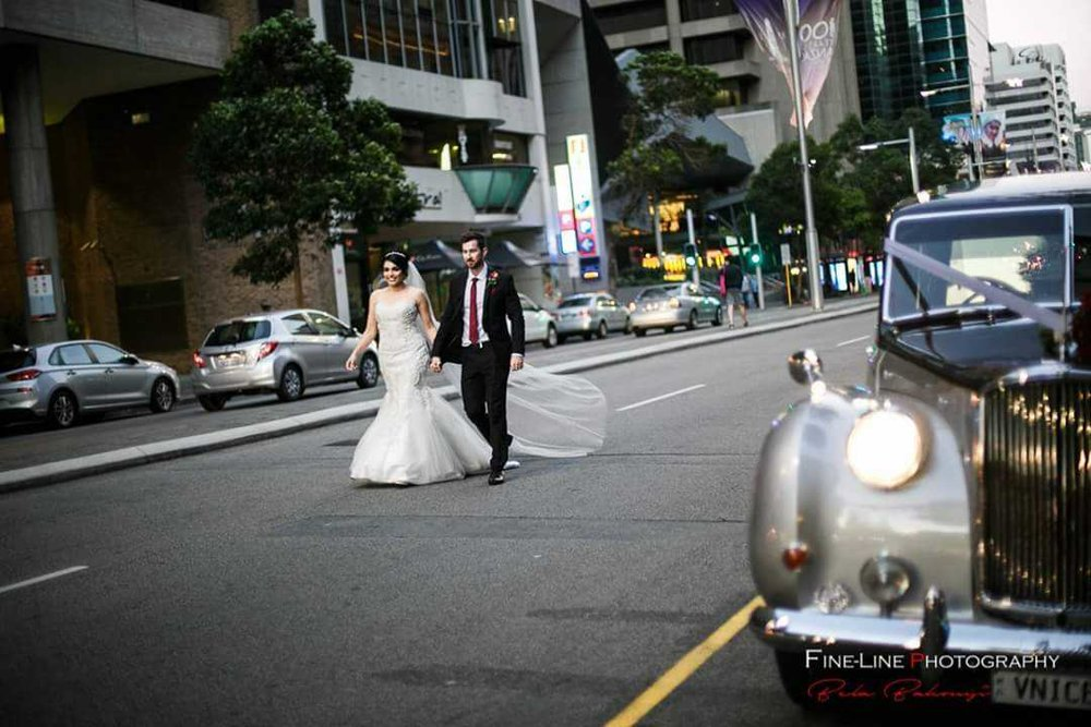 FineLine-Photography-Nicole-and-Peter-with-Very-Nice-Classics-wedding-car-awaiting.jpg