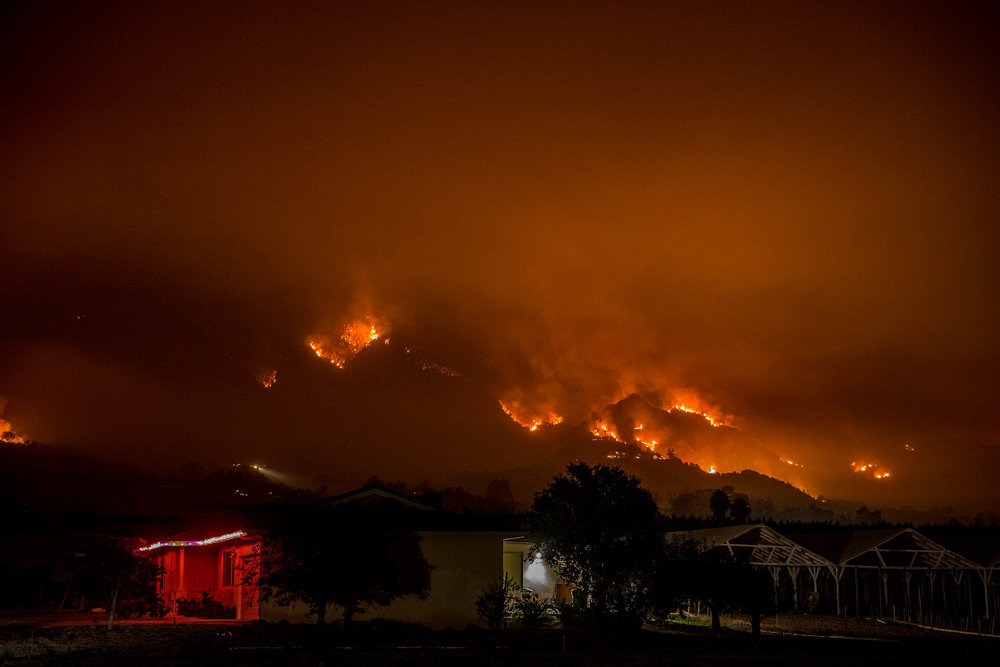 Carpinteria during the Thomas Fire.
