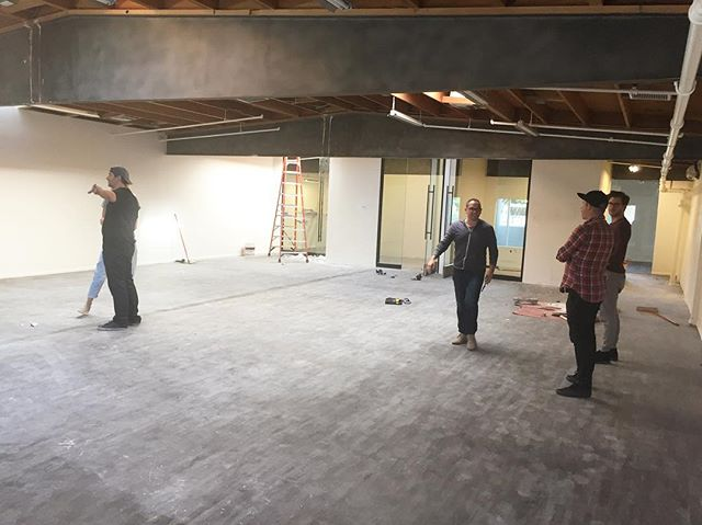 Finalizing design before beginning work on this beautiful office space in Hollywood. Collaboration with designer Chad Hogan @chadpic  #commercial #design & #build