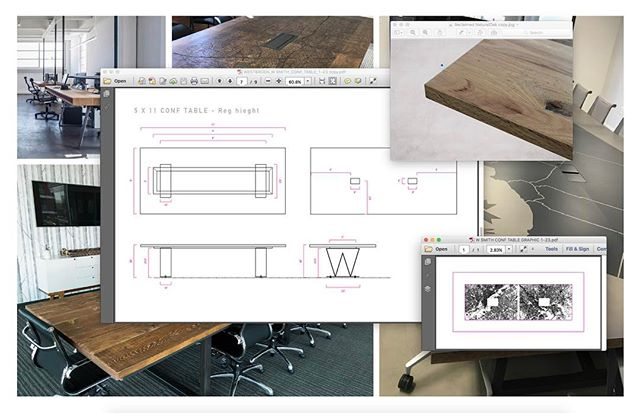 First stages of an epic conference table build for a very special client. #custom #furniture #design #losangeles