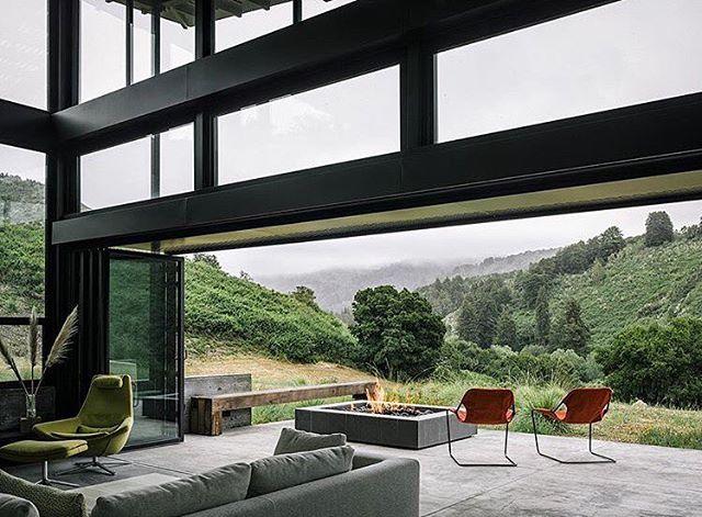 Indoor Outdoor living space in Carmel, CA - design by Feldman Architects #interiordesign #architecture #california