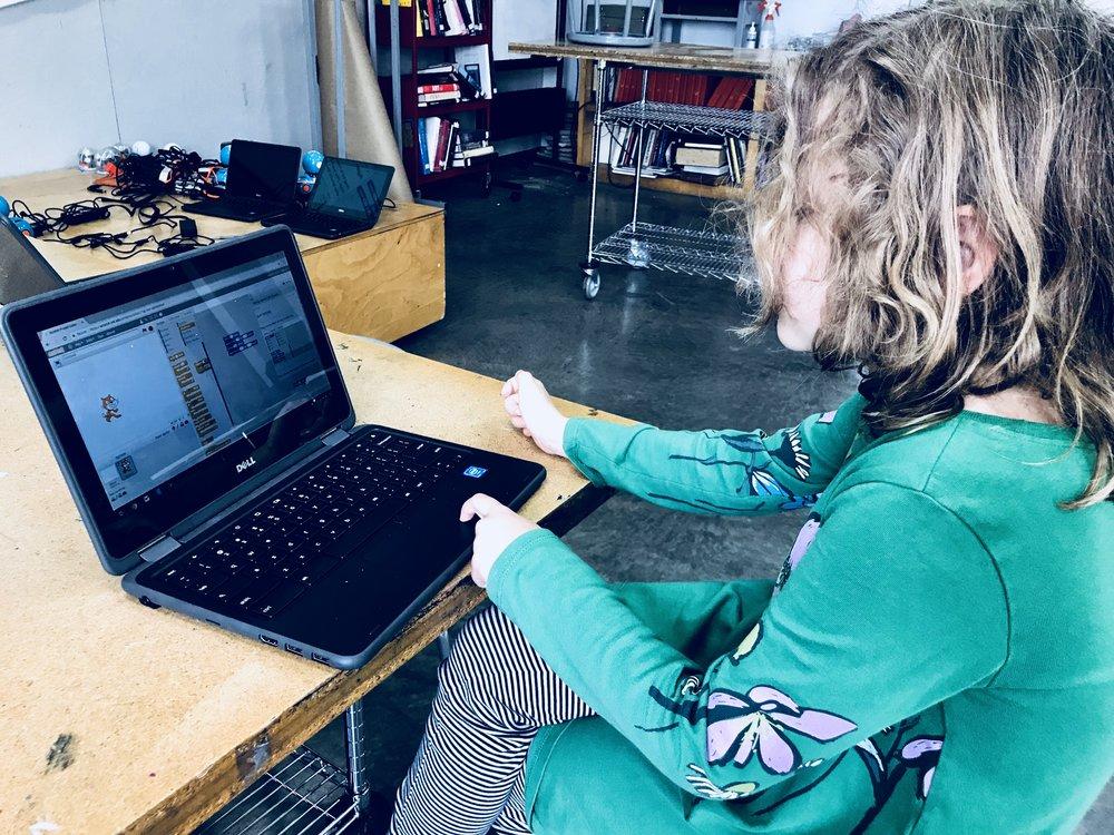Rosemary creating her new program.