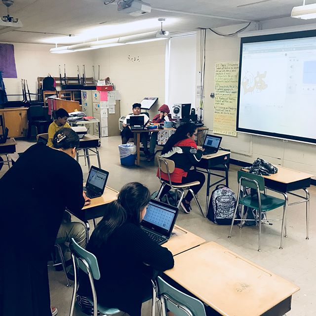 Popped into Wright Middle today to share about the power of technology. Thanks for having us Conexion Americas/NAZA. #oneforone #steampowered #makeamark