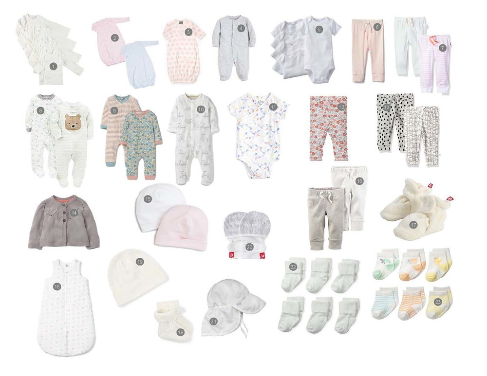092f70869 A sweet little layette (cute French word for a set of newborn baby clothes)  for a baby girl. Check it out on the Clothing page.