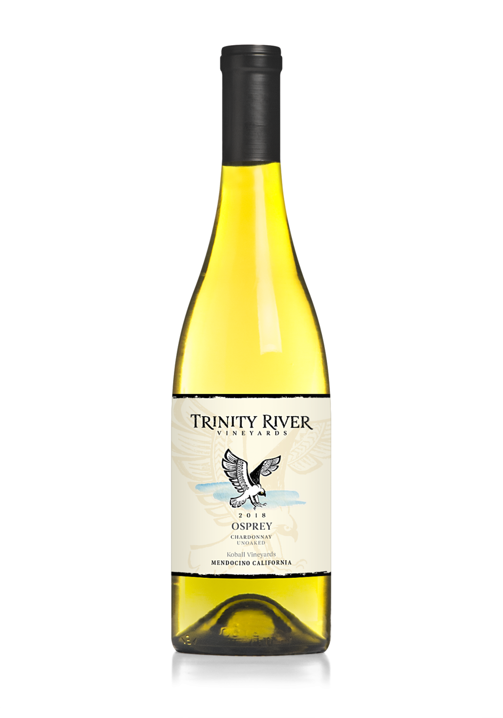 Chardonnay - 2018   2018 Osprey Chardonnay has a subtle floral and fruity nose is followed by green apple and melon fruit flavors. This is a crisp non-oaked chardonnay more reminiscent of Burgundy then Napa. 100% Stainless Steel throughout production keeps this wine bright and full of tension. It is ripe, but has great acidity for balance. This white wine is ready now, but has 2-5 years of staying power not typical in fat, over-ripe whites.
