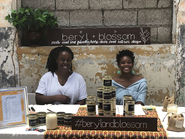 A big thank you to everybody who stopped by the @bookophilia and #kingstoncreative art walk yesterday! 💕  Big up Tara and Rowella for manning the booth and nuff love to everybody who stopped by to smell and buy our candles.  If you weren't able to make it and you'd like to purchase your own soy candle, email us, shoot us a dm or place your order on beryl blossom.com.  #soycandles #jamaica #berylandblossom #handpoured #madeinjamaica