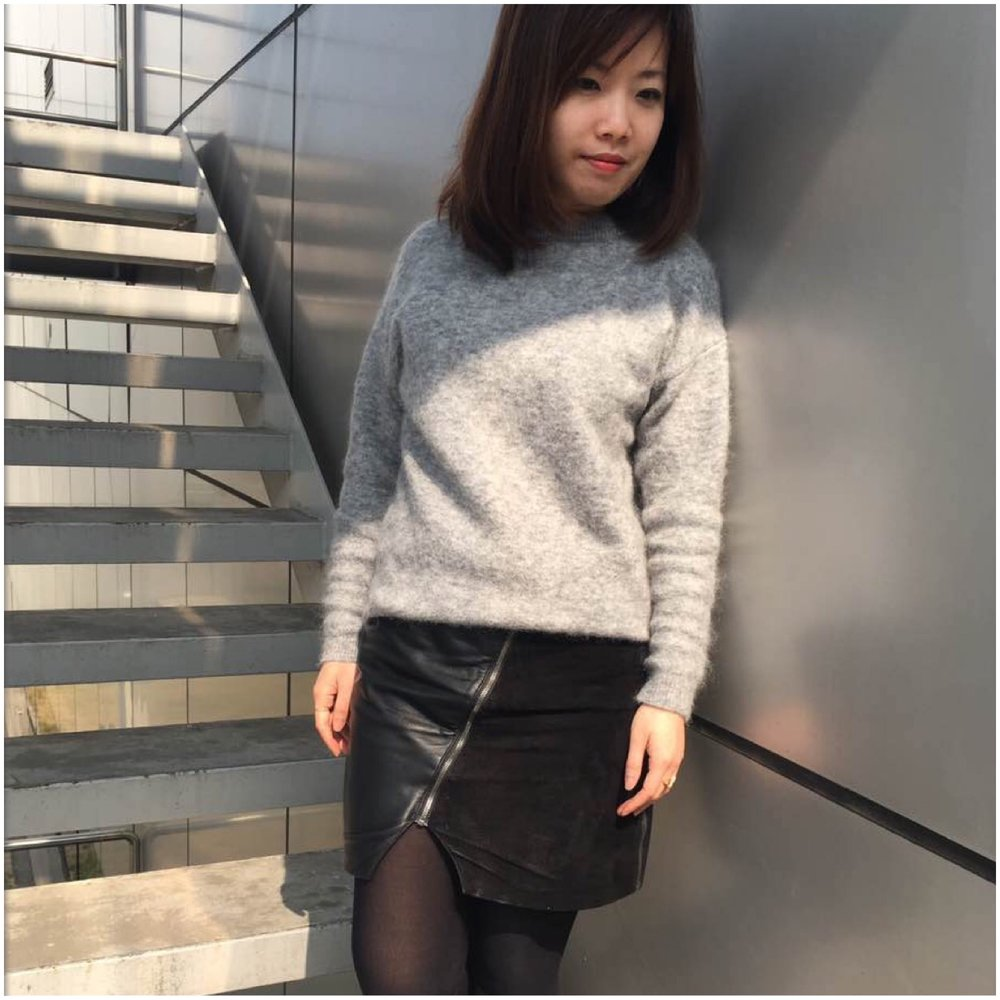 Yuhsuan wearing MOI skirt in Taiwan
