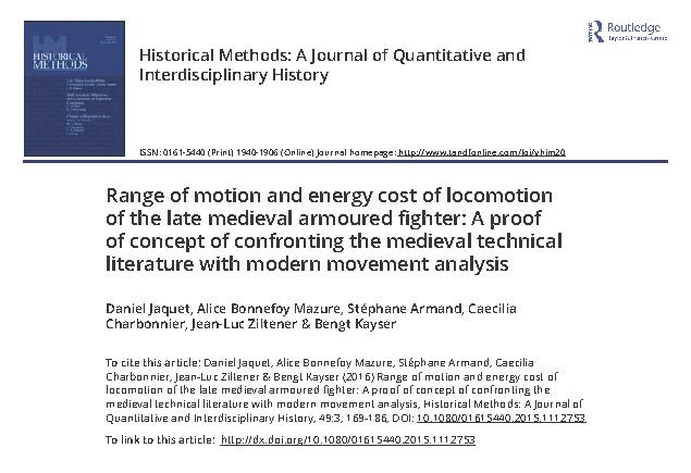 Range of motion and energy cost of locomotion of the late medieval armoured fighter A proof of concept of confronting the medieval technical_Page_01.jpg