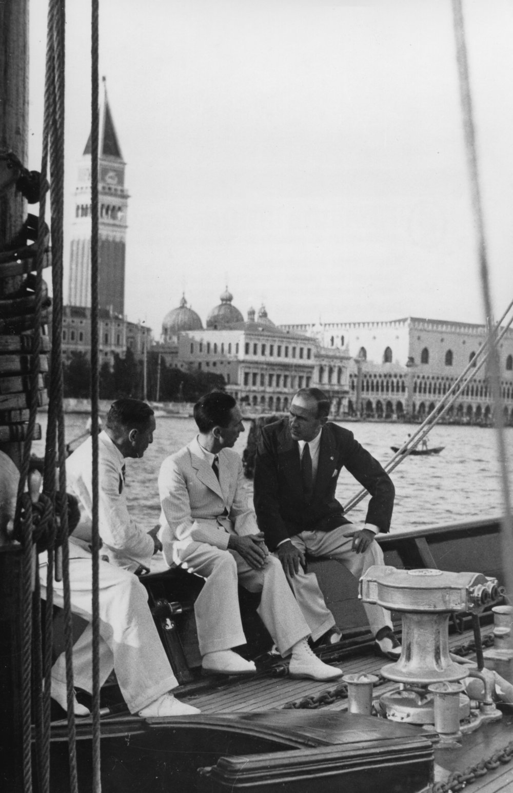 Nazi Propaganda Minister Joseph Goebbels and Mussolini's Press and Propaganda Minister Dino Alfieri, Venice 1936, featured in The Nazi-Fascist New Order for European Culture (Ullstein/IBL Bildbyrå)