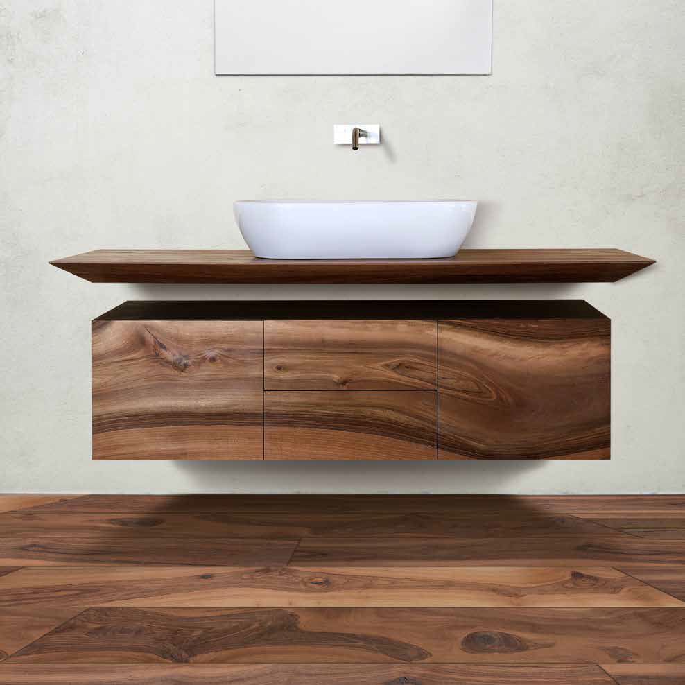 European Walnut Bathroom unit