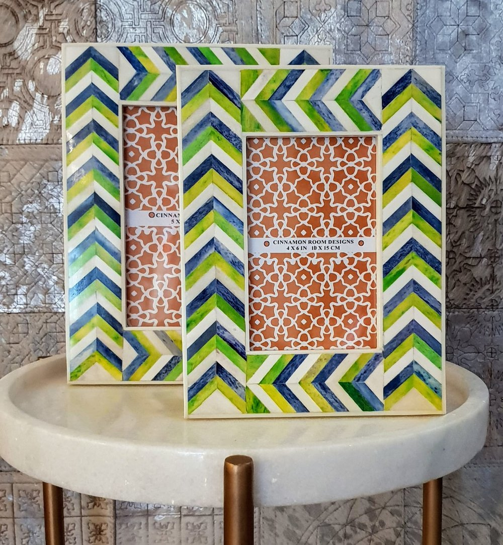 frame green blue chevron.JPG