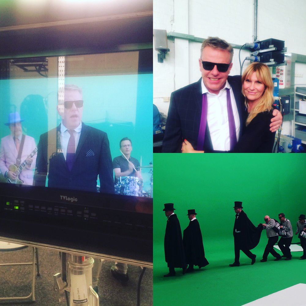 Filming the new promo, me & Suggs