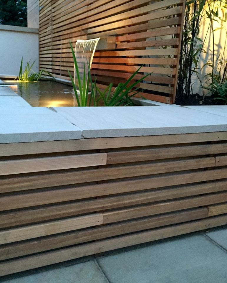 Cedar Fencing in Edinburgh Garden