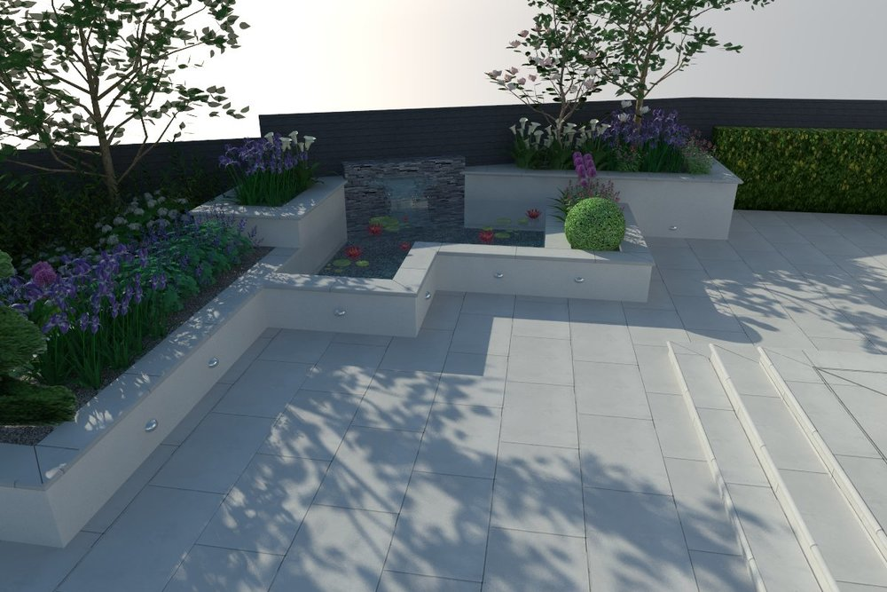 3d Visualisation of a contemporary water feature