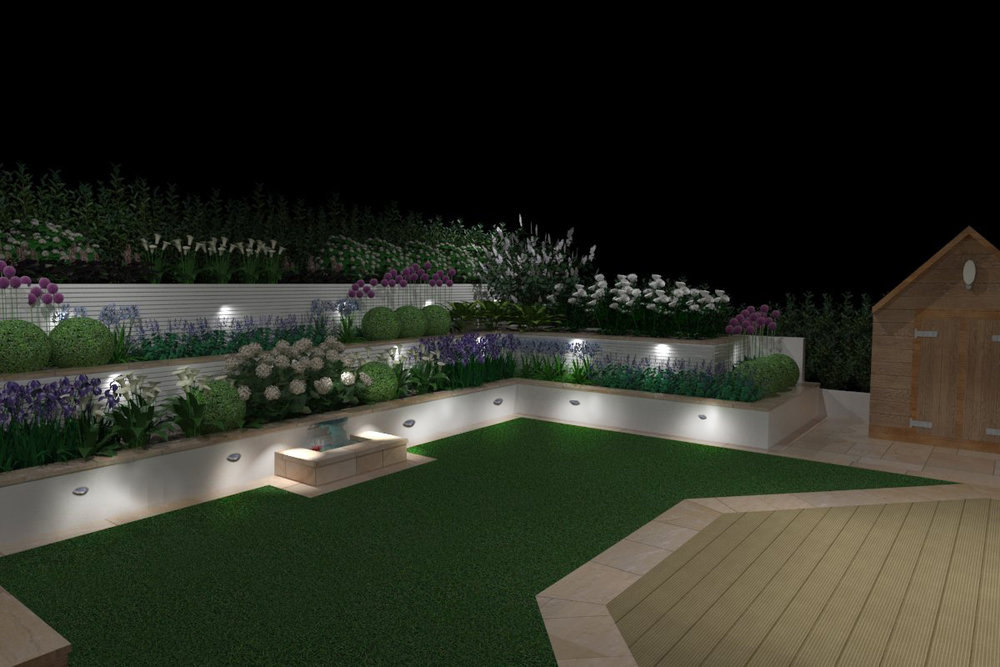 3d showing a proposed design at night