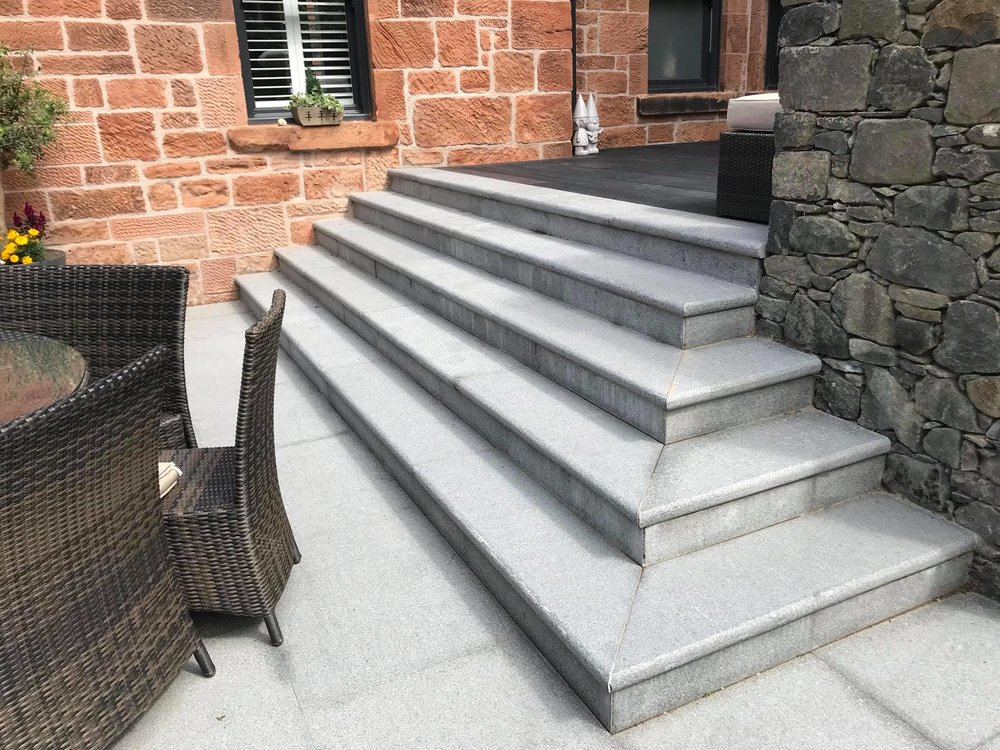 Bullnose Granite Steps, Glasgow