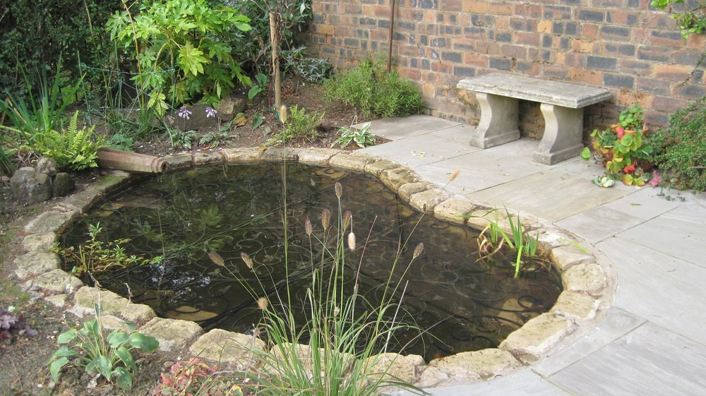 Pond with safety cover, Giffnock