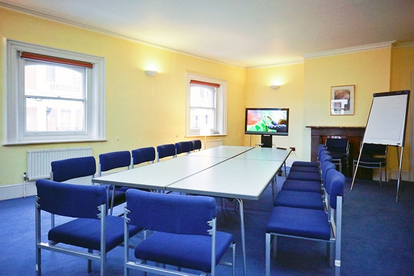 LARGE ROOM   Our large meeting room at Mandeville Place is always in demand as it's 42 sq/m and perfect for meetings and seminars, without the cost that usually comes with a room of this size.    Boardroom: 20 Classroom: 24 Theatre: 30 Horseshoe: 20 Open: 40