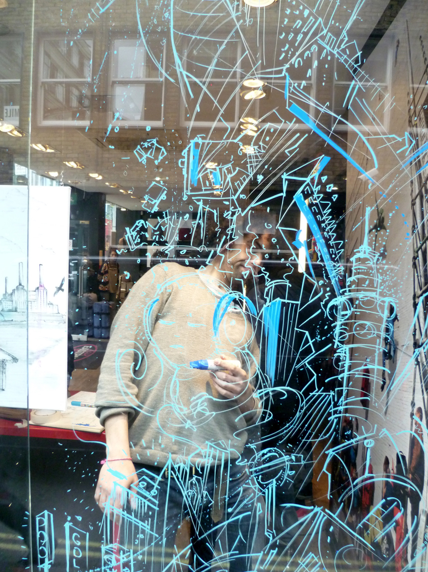 Eastpack Window Painting