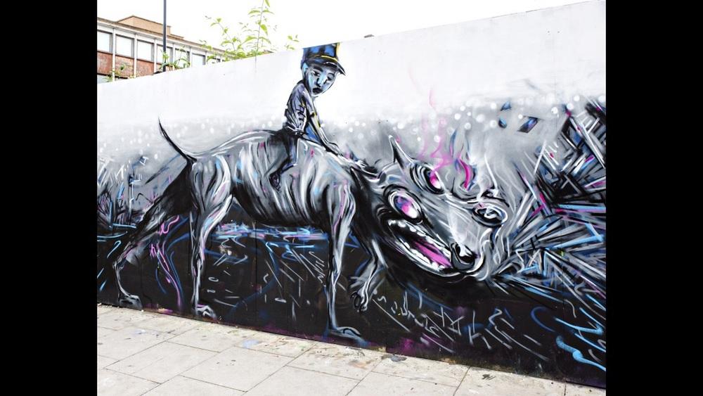 Hackney Road Mural 2016