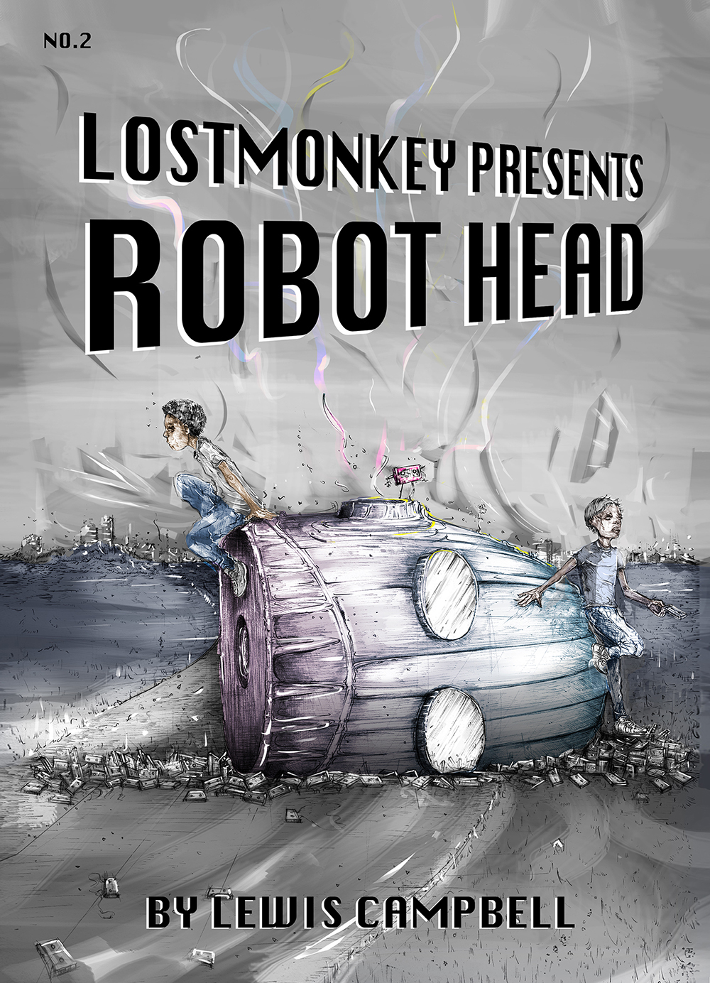 Robot Head no.2- LostMonkey Comics