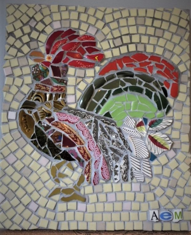 Mosaic Cockerel students work.jpg