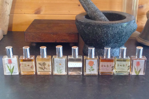 Perfumes made at a Dilston Physic Garden workshop.