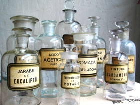 The Apothecary shelf - from whence perfumes came