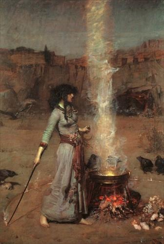 A potent brew - The Magic Circle by JW Waterhouse