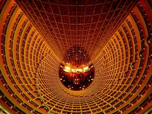 Looking down Jin Mao Tower (image: noupe.com)