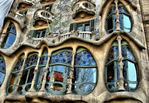 flamboyant and arresting – Gaudi's window treatment