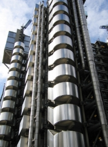 Lloyds Building Staircase – like a metallic centipede! (Credit: wikipedia)