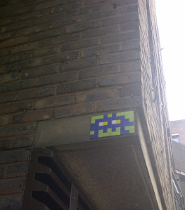 The truth is out there – Space Invader mosaics (French artist, Invader)
