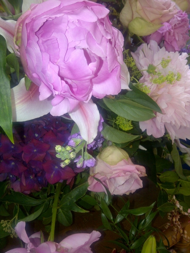 the lush florabundance of roses and peonies