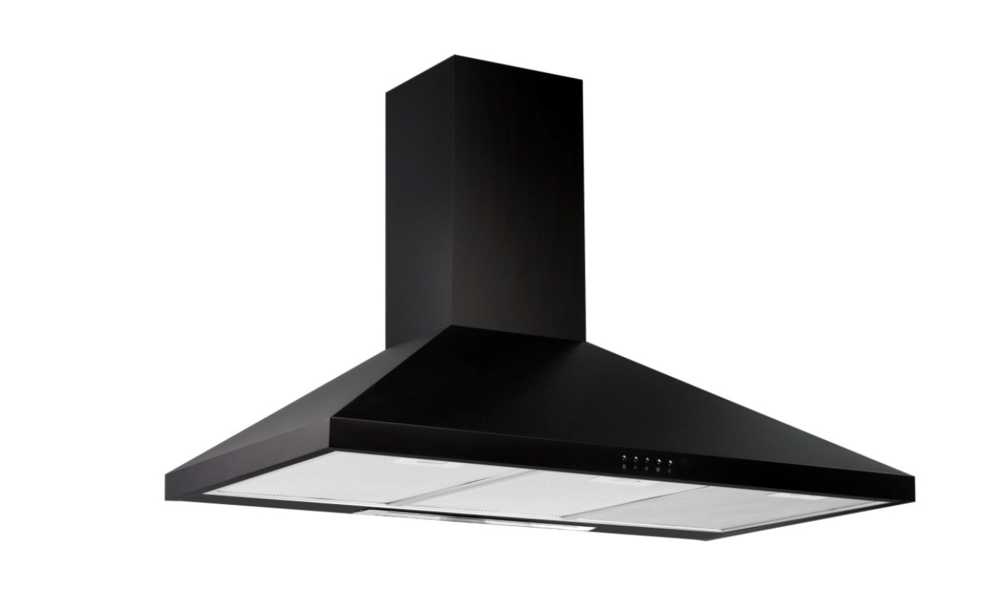 UT06-90B Black Chimney Hood